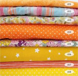 collection coton imprimé jaune orange - 100% coton