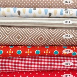 collection coton imprimé rouge et brun - 100% coton