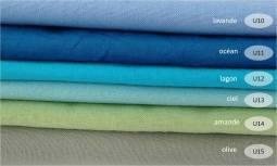 collection cotons unis tons verts et bleus - 100% coton