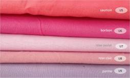 collection cotons unis tons roses - 100% coton