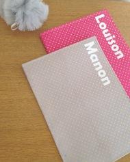 protège carnets de santé - modèle simple - tissus étoilé
