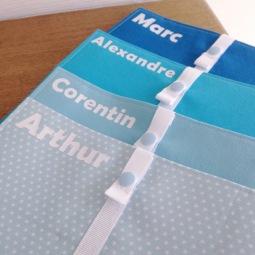 protège carnet de santé- modèle avec fermeture - tissu uni et étoilé