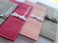 protège carnet de santé - modèle avec fermeture - tissu étoilé