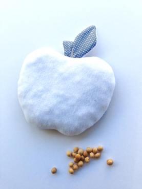 modèle pomme - tissu à pois