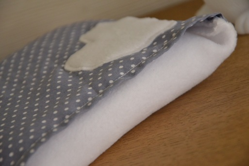 modèle déhoussable - tissu à pois