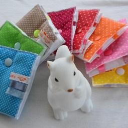 Modèle barrette : tissu à pois