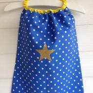 modèle coton - motif étoile - tissu à pois
