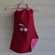 modèle coton - motif cerise - tissu à pois - flex pastel rose