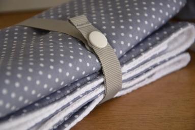 tapis à langer nomade - tissu à pois