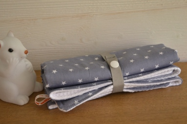 tapis à langer nomade - tissu étoilé