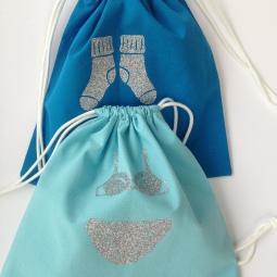 kit couture pour réaliser 2 pochettes à sous-vêtements