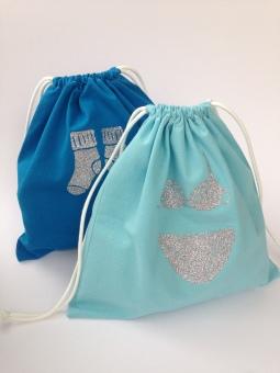 exemple de réalisations avec le kit couture : pochettes à sous-vêtements
