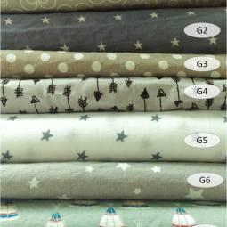 collection cotons imprimés gris - 100% coton