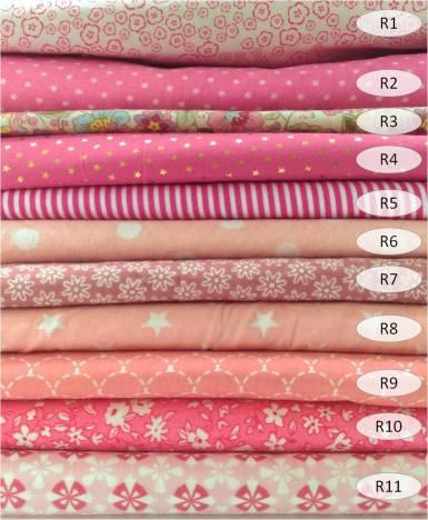 collection cotons imprimés rose - 100% coton